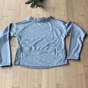 Champion Gray Striped Mock Neck Active Pullover